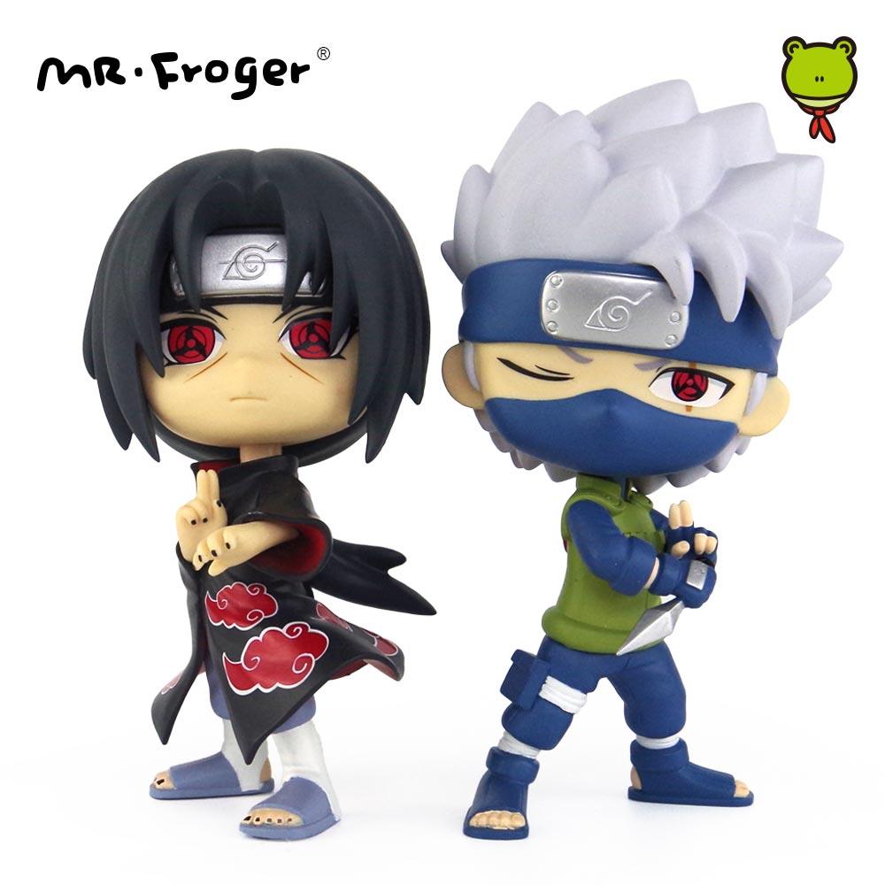 Mr.Froger Naruto Action Figures Hatake Kakashi Uchiha Itachi Figure Japanese Anime Chibi Dolls PVC Figurine POP Vinyl Toys Ninja free shipping gopro hero 3 usb 90 degree to av video output