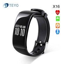 Teyo Новый Smartbracelet X16 Монитор Сердечного ритма Артериального Давления Браслет Фитнес Отслеживания Bluetooth Pulsera Inteligente Android IOS