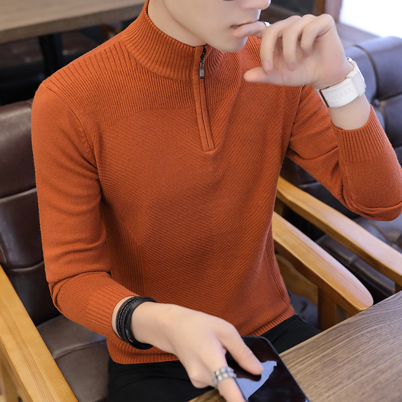 Fall 2020 Sets New Men Sweater Collar Fashion Youth Render Sweater