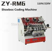 ZY RM6 Halbautomatische Schuh Box Codierung Maschine Pedal Code Drucker/Brief Drücken Karte Embosser Drucker