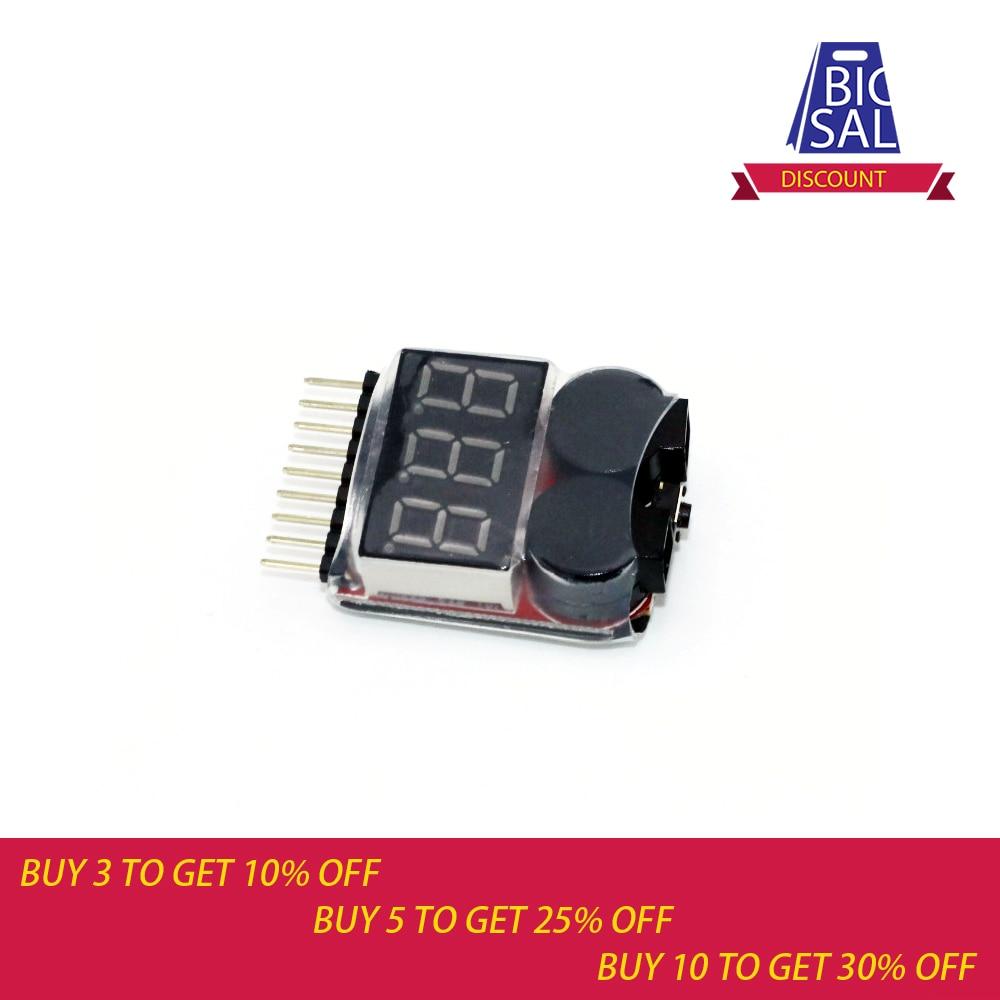1-8S 0,5-36 V lõvi aku testri madalpinge arvesti voltmeeter Buzzer Alarm 2-in 1 indikaatori kontrollija