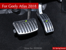 Автомобильный-Стайлинг Refit Accelerator Oil footrest педаль сцепления дроссельная Тормозная педаль для Geely Atlas 2017 2018 на 2 шт./компл.