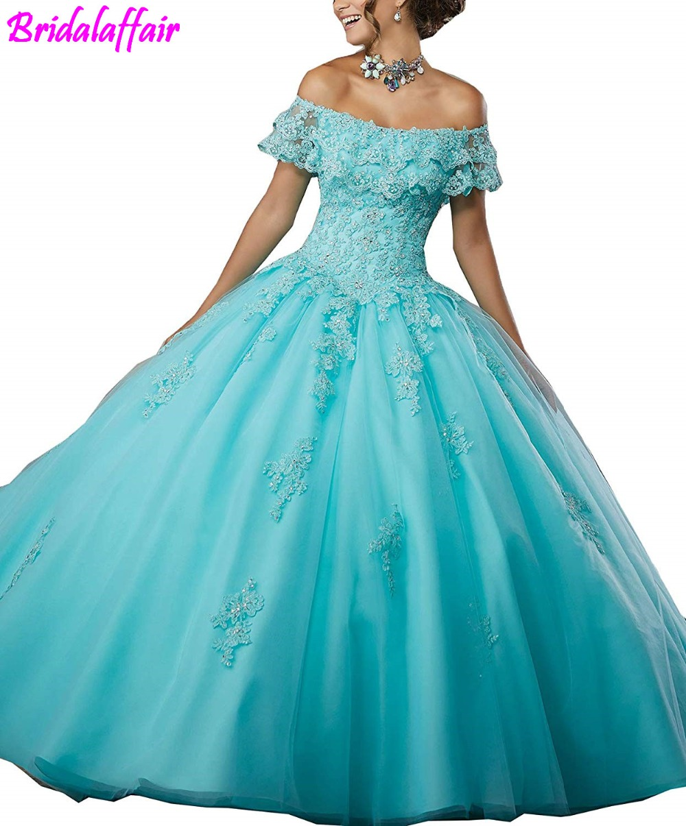 Women s Girls Ball Gown Beads Prom Dress Lace Prom Gowns Sweet Elegant Evening Dresses vestidos