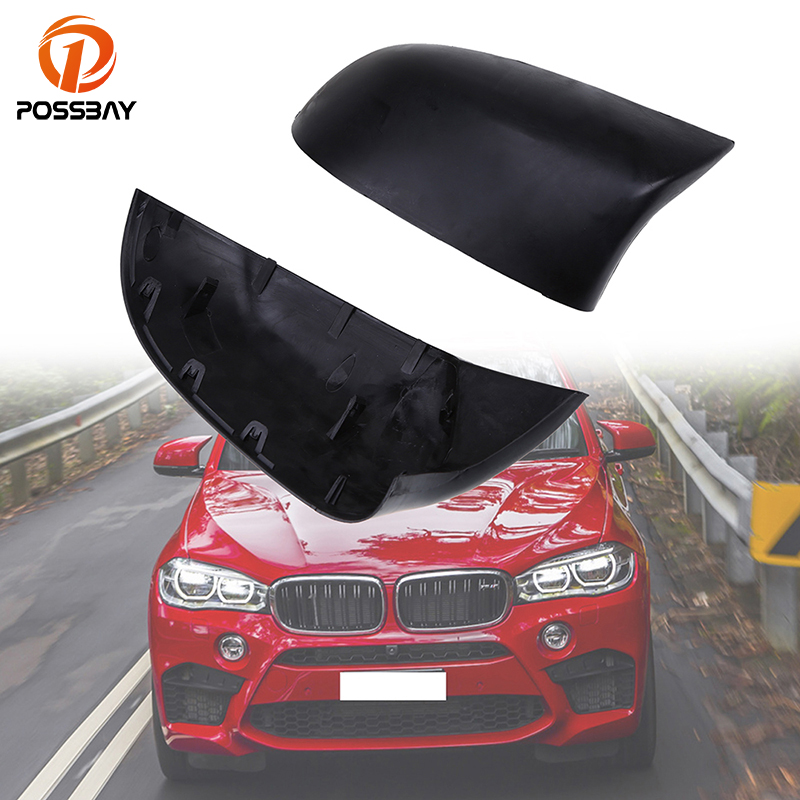 POSSBAY Car Left Right Rearview Mirror Shell Cover Car Door Side Mirror Protection Caps for BMW X3 SUV F25 2011 2017