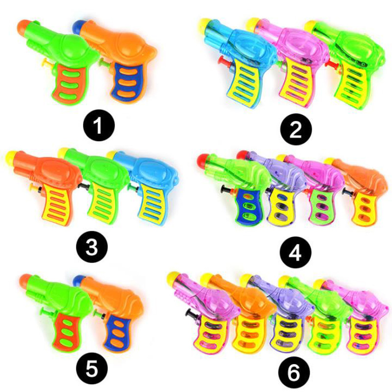 Mini Water Spray Small Water Gun Solid Color Transparent Water Gun Beach Summer Children Play Water Interactive Toy Gift