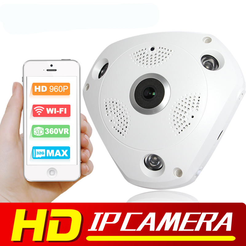ФОТО 1.3MP 960P 3D VR Cam WIFI IP Camera Fisheye Lens SD Card Slot HD Panorama Cameras IR Night Vision CCTV Security Camera BOAVISION