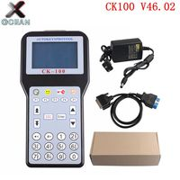 Free Shipping Best Gray screen CK 100 Car Key Programmer with 1024 Token V46.02 Slica SBB the Latest Generation CK100 Tool