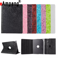 Hot Ultra Stylish Luxury Grape Pattern PU Leather 360 degree Rotating Cover Stand case For apple ipad 5 ipad Air Case cover 9.7