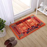 Chinese Style Double Happiness Carpet Warm Red Bedroom Living room Home Door Mats