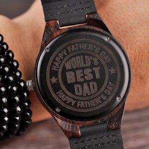 Image 2 - Personalizado gravado relógios de madeira presentes para o pai, mãe, amigos, aniversário, dia do aniversário, presente do padrinho