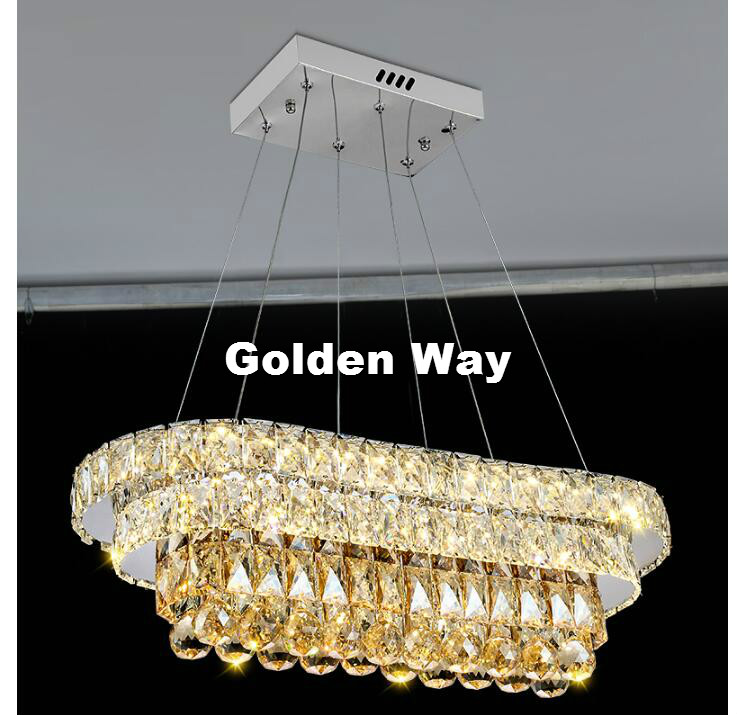 Free Shipping Modern LED Luxury Clear LED European Top K9 Champagne Crystal Pendant Light Hotel Hall Living Room Dining Room AC free shipping d450mm luxury k9 crystal chandelier lamp k9 golden crystal hotel hall light led crystal pendant 100