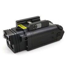 SOTAC GEAR armas tácticas DBAL PL láser IR/luz IR/estroboscópico/láser rojo y luz blanca de 400 lúmenes linterna para rifle