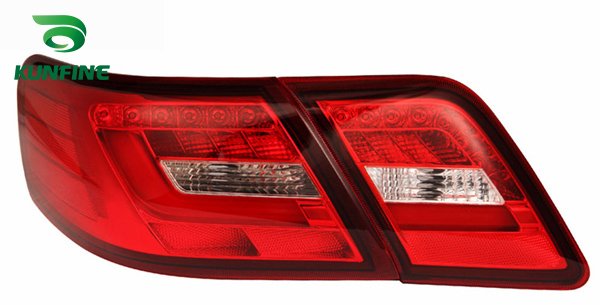 KUNFINE Pair Of Car Tail Light Assembly For TOYOTA CAMRY 2006-2011 USA Version Brake Light With Turning Signal Light внешние аксессуары 2006 2011 toyota camry gh