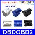 New Super Mini Bluetooth V2.1 ELM327 OBD2/OBDII Para Android/Symbian/Windows Mini ELM 327 12 Línguas suportado Frete Grátis