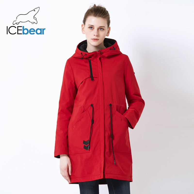 ICEbear 2019 new sports ladies casual jacket windproof warm spring jacket high quality hooded jacket GWC19115I