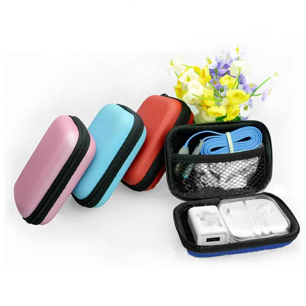 SFG House Koin Dompet Portable Mini Dompet Perjalanan Elektronik Kartu SD USB Kabel Earphone Ponsel Charger Case Penyimpanan Hadiah Kantong