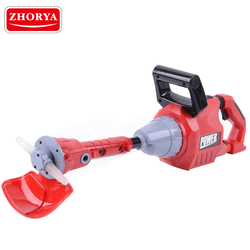Zhorya Garden Tool Rotating Chainsaw with Sound&Light Lawn mower Pretend Play Power Tool Toys Repair Tools for Boys Children