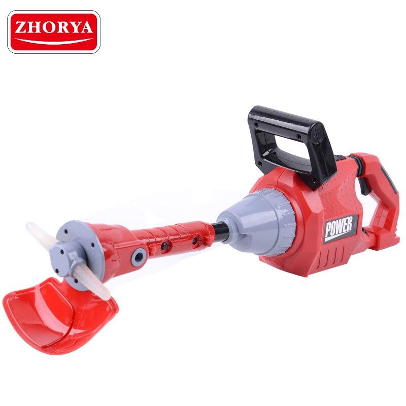 Zhorya outil de jardin tronçonneuse rotative avec son et lumière tondeuse à gazon semblant jouer outil électrique jouets outils de réparation pour garçons enfants