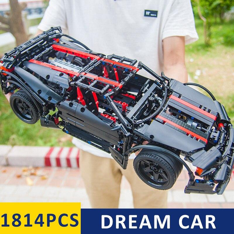 Moc Super Race Car Model Building Kits Blocks Bricks Compatible Legoinglys technic 42056 Boys Christmas Gift Educational Toys