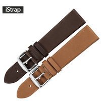 IStrap 18mm 19mm 20mm 22mm Genuine Calfskin Leather Watch Band Steel Pin Buckle Strap Supper Soft