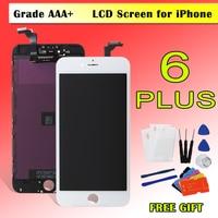 Para el iPhone 6 Plus pantalla LCD pantalla táctil digitizador Asamblea reemplazo 5.5 pulgadas LCD reparación + herramientas + vidrio película A1524