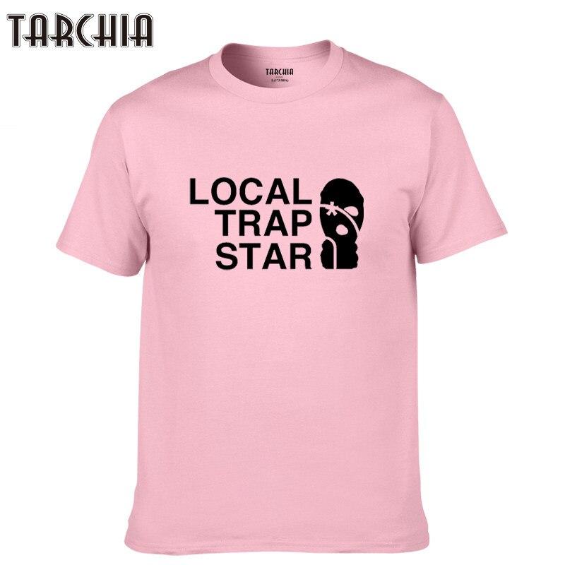 TARCHIA 2019 new men short sleeve boy casual homme tshirt t plus fashion brand t-shirt local trap star cotton tops tees summer