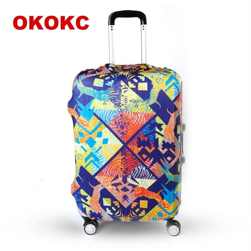 OKOKC путешествия Чемодан крышка обрастания чемодан защитная крышка дорожные аксессуары эластичные Чемодан пыли Чехол для 19-32 дюймов