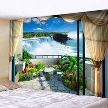 Waterfall on the Balcony Printed Large Wall Tapestry Cheap Hippie Wall Hanging Bohemian Wall Tapestries Mandala Wall Art Decor все цены