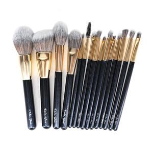 Image 4 - Set de brochas de maquillaje vela.yue, brocha de maquillaje sintética de viaje sin crueldad, Kit de herramientas de belleza, brocha de maquillaje en polvo, sombra de ojos de base, 15/4 Uds.