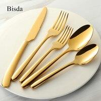20pcs Top Quality Cutlery Set Gold 18 10 Stainless Steel Western Tableware Set Mirror Polish Silverware