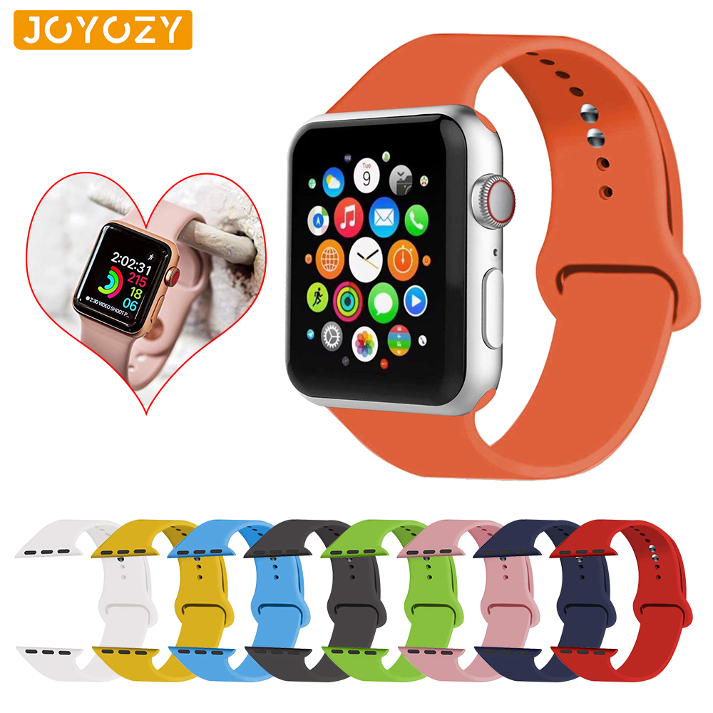 Joyozy 25 Colorful Soft Silicone Sports Band For Apple Watch Bands 42mm/38mm Watchband Series 4/3/2/1 For Apple Watch Band