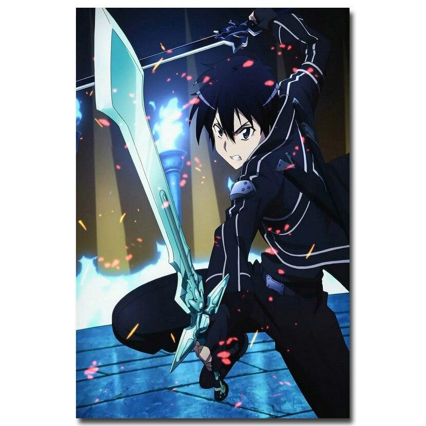 NICOLESHENTING Schwert Art Online 2 Kirito Asuna Silk poster 12x18 ...