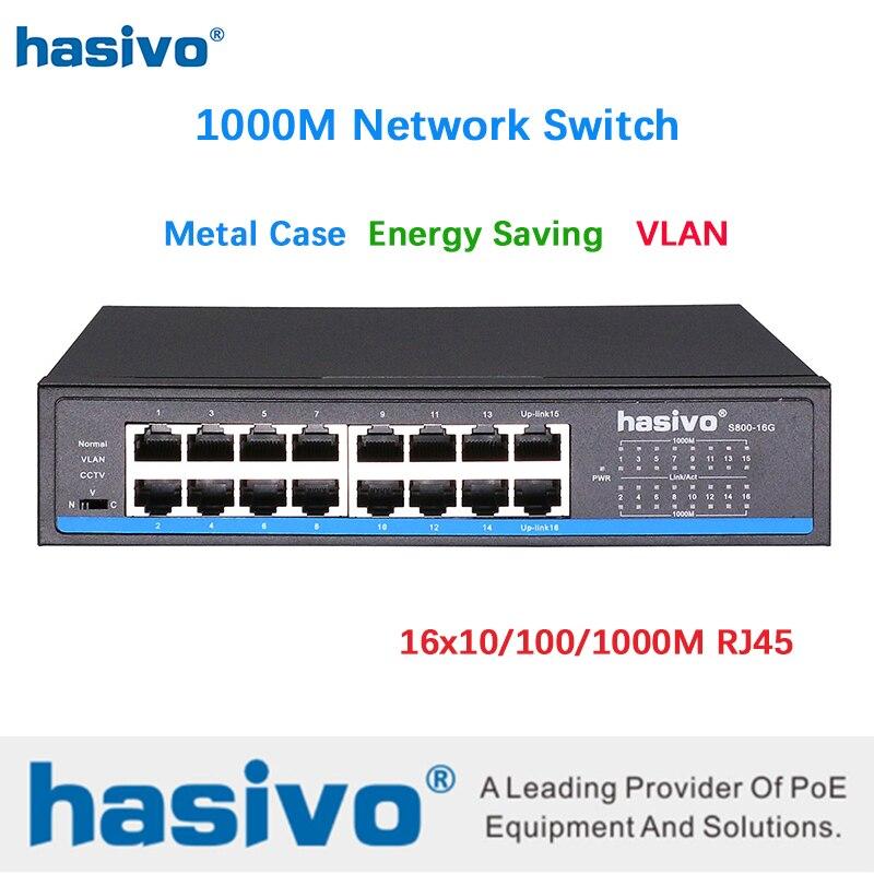 16 porto rj45 todos gigabit enthernet switch interruptor lan ethernet