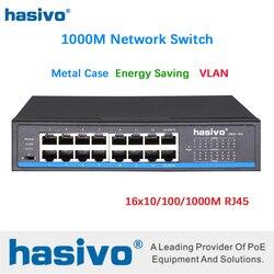 16 puertos RJ45 todos los Gigabit Enthernet switch lan conmutador ethernet