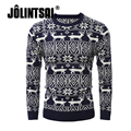 Jolintsai Christmas Sweater Men 2017 Winter High Street Wear Thick Design Ugly Christmas Sweater With Deer Pullover Pull Homme