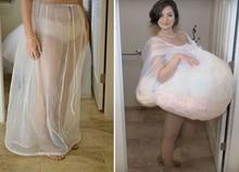 Petticoat Žena White Tulle Weeding Crinoline Sleevek Chráňte se od vody v toaletě Tulle Boční otvory Svatební party příslušenství