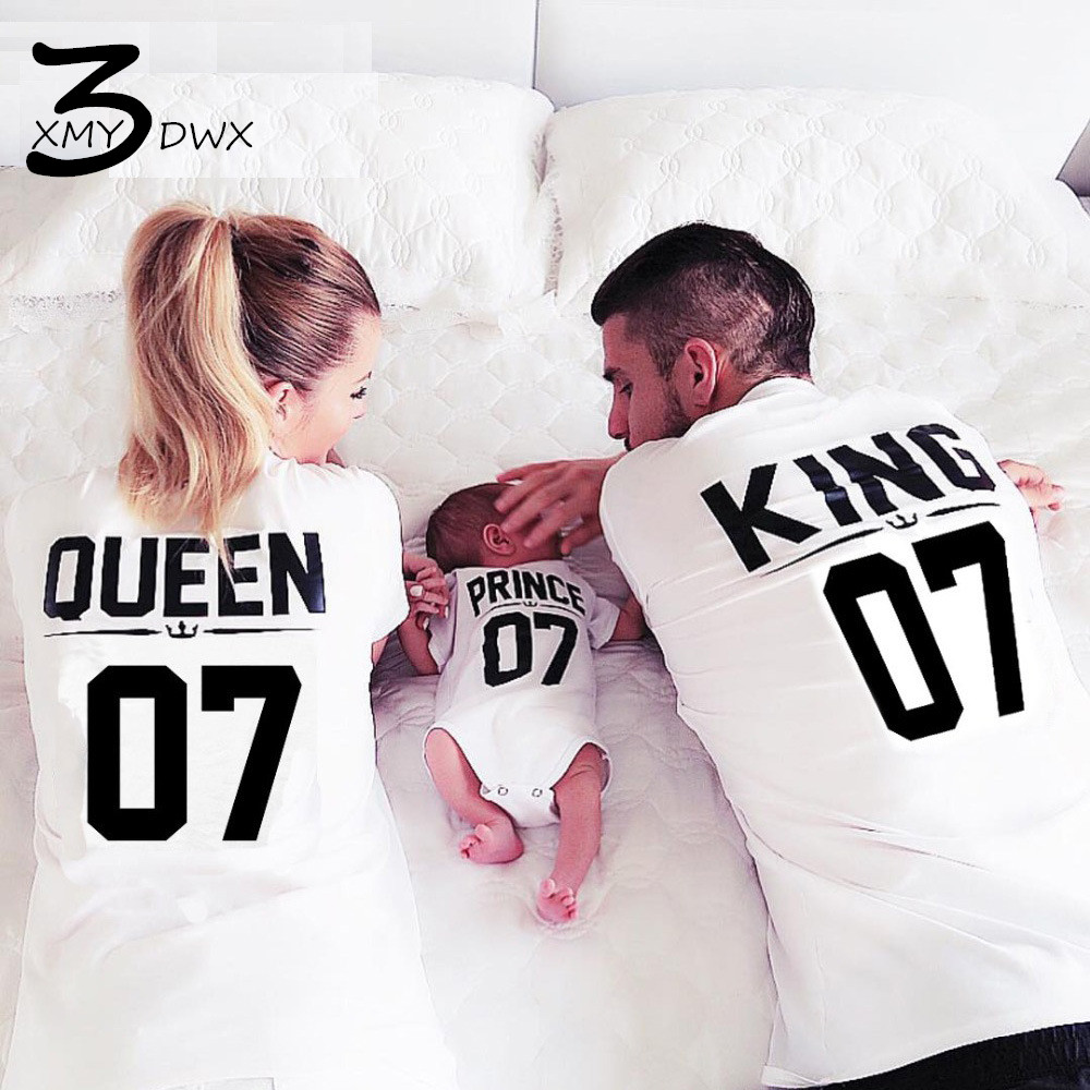 Design t shirt for couple - Xmy3dwx Fashion Lovers Summer King Queen Letter Printing Short Sleeved T Shirt Couples Pure Cotton Casual T Shirt Size Xs 4xl