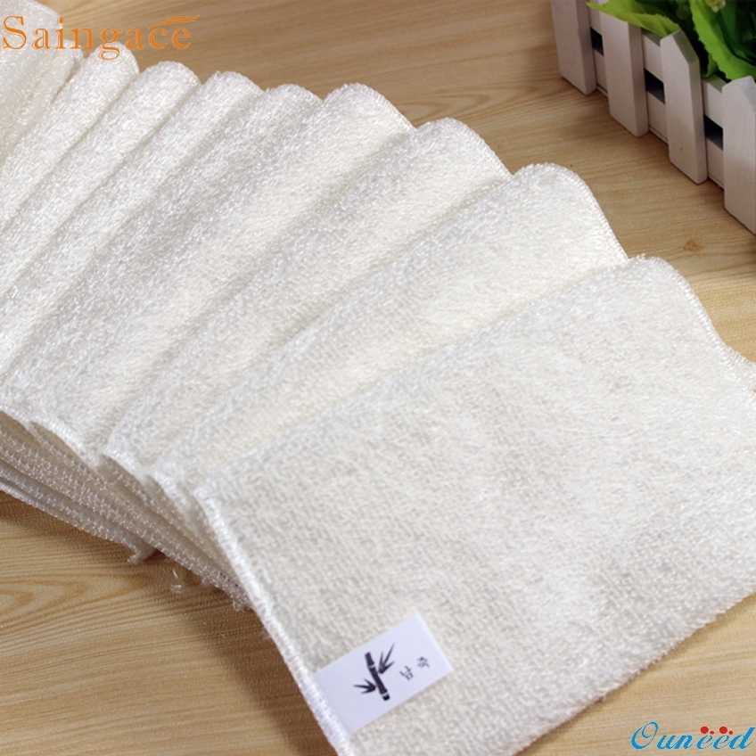 Saingace 5PCs Gifts High Efficient Anti-grease Dish Cloth Bamboo Fiber Washing Towel Magic Kitchen Cleaning Wiping dropship