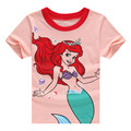 2017 Character Summer Cute Kids T-shirts Girls Clothes Cartoon Girls T-shirt Baby Girls Short Sleeve Top Children Clothing ss065