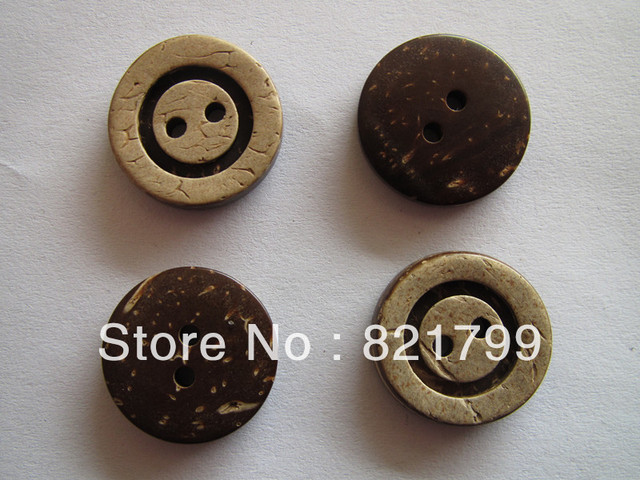 28L cocount  2 hole button  arc  wooden button  natural color  engraved logo button factory price custom button