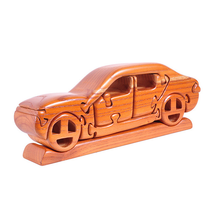 kids educational assembling wooden toys 3d jigsaw iq car puzzle decoration craftchina mainland