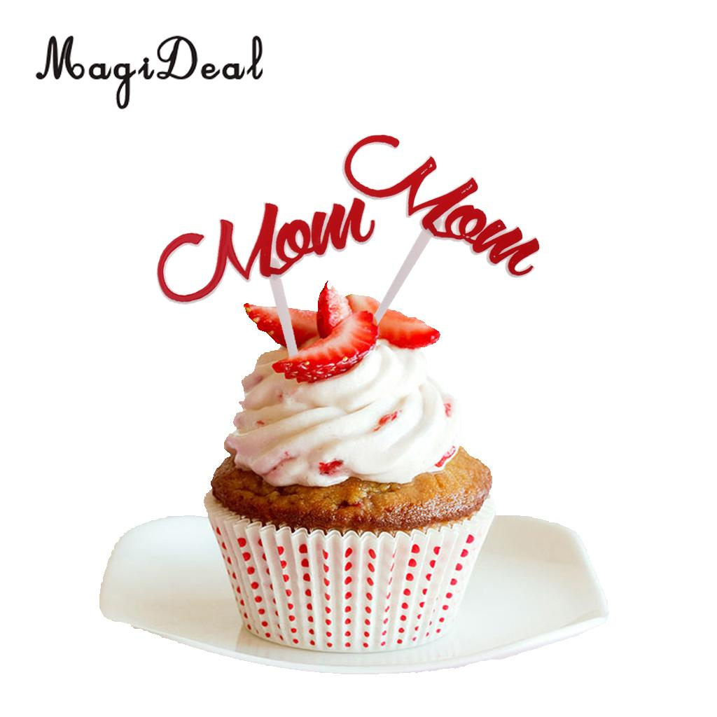 Sensational Pack Of 12 Happy Birthday Mom Cake Toppers Mothers Day Festival Funny Birthday Cards Online Eattedamsfinfo