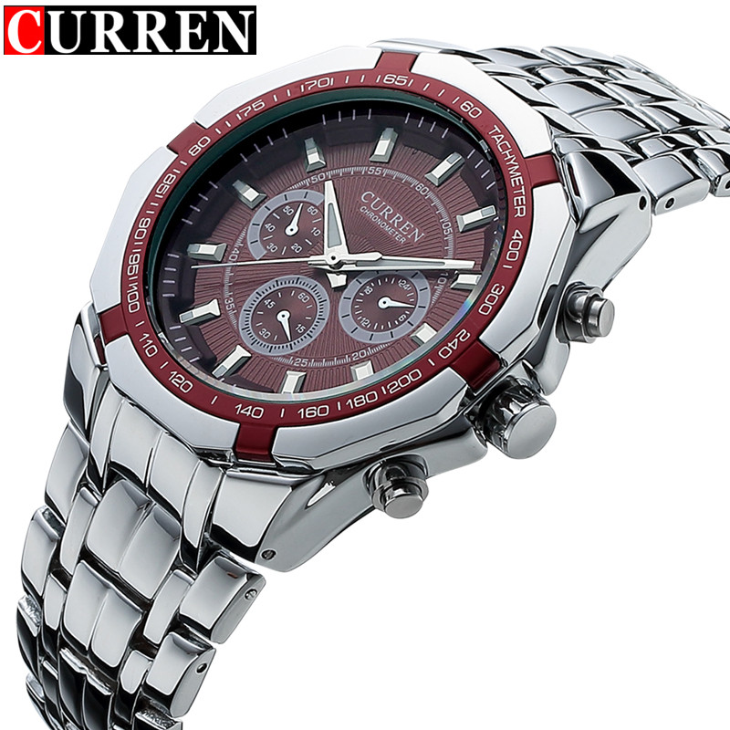 Relogio Masculino Curren Watches Men Brand Luxury Stainless Steel Analog Quartz Watch Waterproof Male Sport Clock Men Wristwatch weide casual genuine luxury brand quartz sport relogio digital masculino watch stainless steel analog men automatic alarm clock