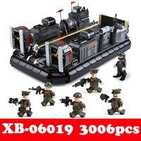 XINGBAO 06019 натуральная Военная серия амфибия транспорт корабль набор модель здания кирпичи LegoLINGLYs игрушки детские подарки