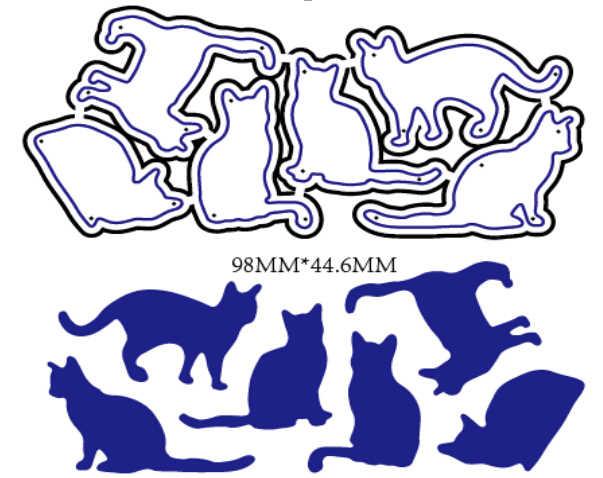 Cat ชุดโลหะตัด Dies ลายนูน Die หัตถกรรมสำหรับ DIY การ์ดอัลบั้มหนังสือ Scrapbooking DIY ตกแต่ง