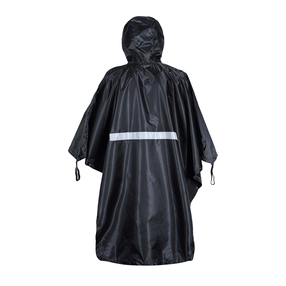 Yuding Impermeable Rain Poncho Cycling Camping Waterproof Tent Map Raincoat Hooded Women men Chubasqueros with Reflective Strip in Raincoats from Home Garden