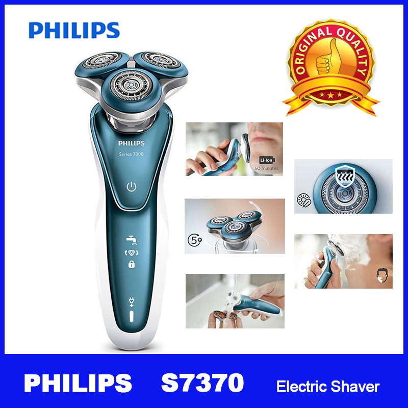 Professional Philips Electric Shaver S7370 with Gentle Precision PRO Blades SmartClick precision trimmer Wet and dry for Mens-in Electric Shavers from Home Appliances