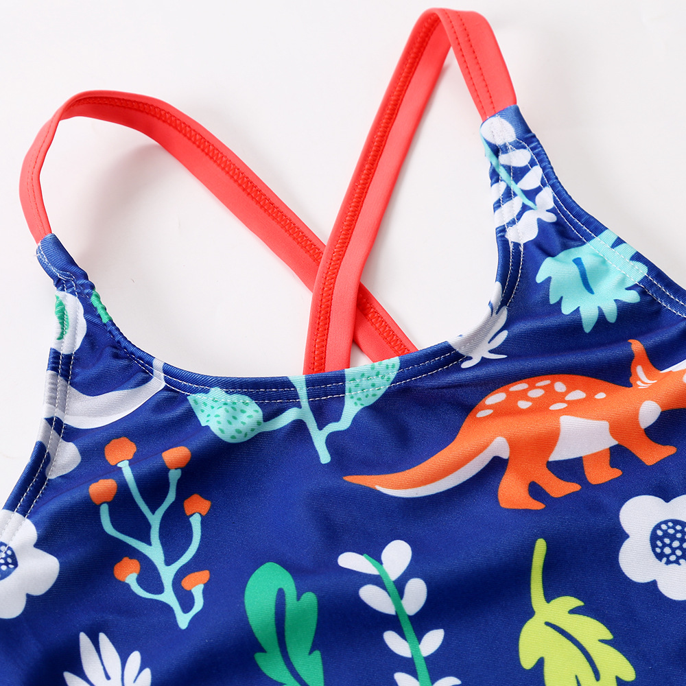 f59e57b49f New Style Swimsuit For Girls Sweeter Cute And Cute Children s Swimsuit  Dinosaur Pattern Bathing Suit-in Children s One-Piece Suits from Sports ...