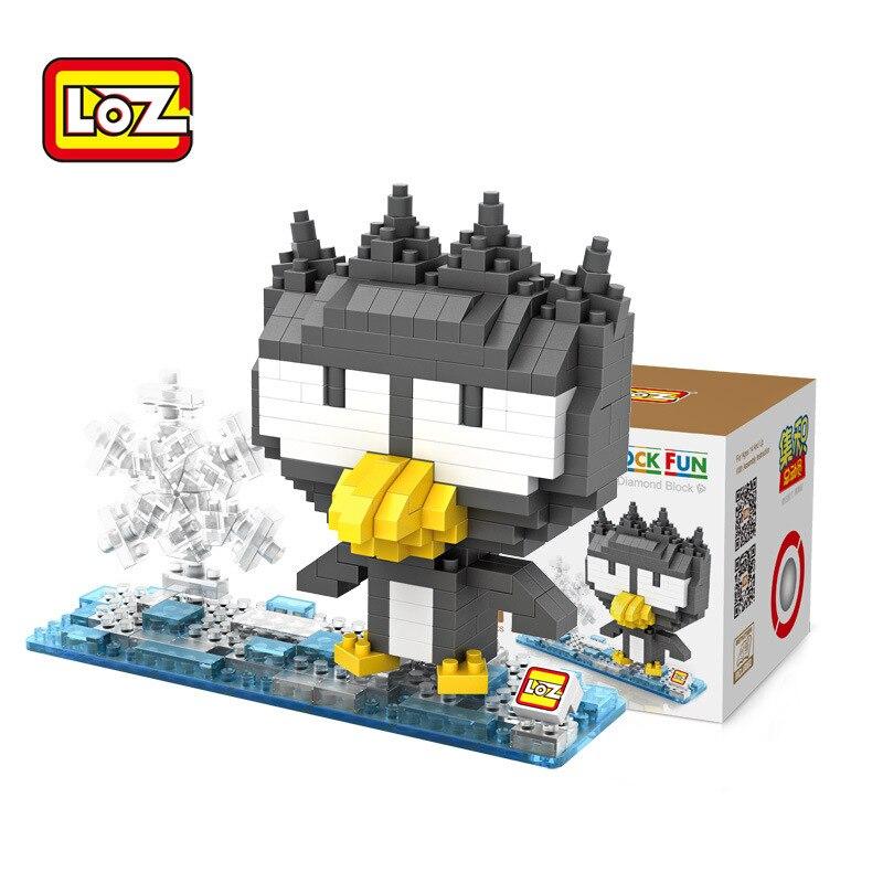loz blocs animaux jouets ensemble de briques en plastique pingouin mignon dessins animes poupees