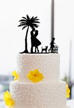 Wedding Cake Toppers With Happiness Tree , Family Personalized Cake Toppers Custom